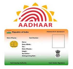 ist of documents for aadhar card