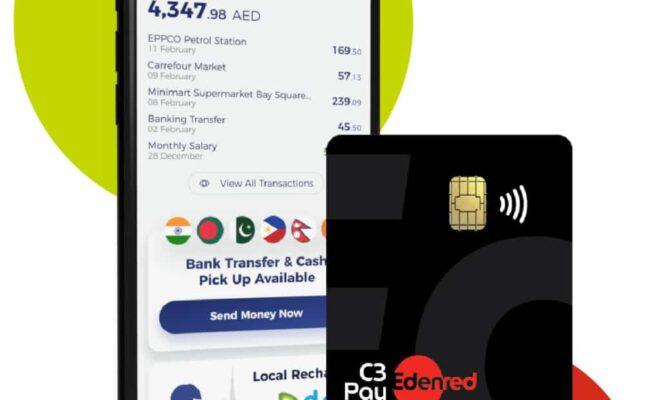 C3Pay mobile app, Edenred UAE,