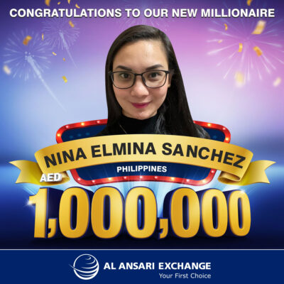 Filipina wins Dh1m in Al Ansari Exchange draw in Dubai
