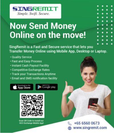 GCC Exchange Singapore Launches Online Money Transfer Service Called SingRemit